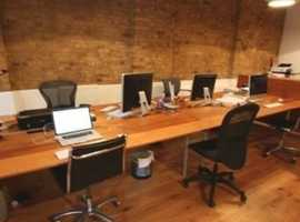 Desks available to rent on a monthly basis in Bermondsey