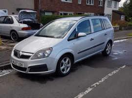 Vauxhall Zafira, 2007 (57) Silver MPV, Manual Diesel, 140,000 miles