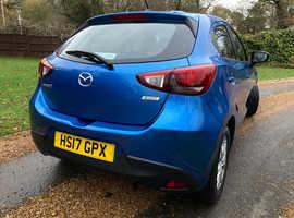 Mazda MAZDA 2, 1.5 SE-L Navigation 2017 (17) Eternal Blue Hatchback, Manual Petrol, 4,900 miles