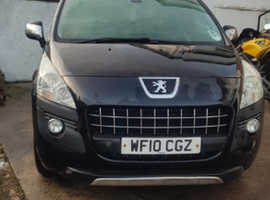 Peugeot 3008, 2010 (10) Black Hatchback, Manual Petrol, 102,000 miles