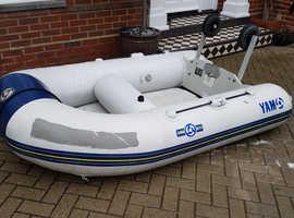 Yamaha inflatable with launching wheels