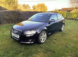 Audi A3, 2010 (10) Black Hatchback, Manual Diesel, Sport, 45,000 miles