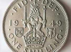 1949 GEORGE VI BRITISH SHILLING.