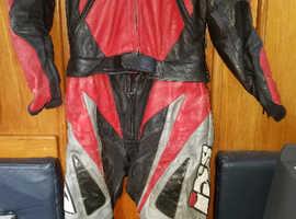 IXS (Swiss)   Racing Leathers   ~ Two Piece  Size 40.