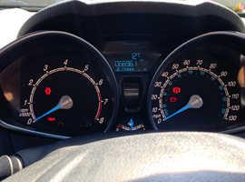Ford Fiesta, 2013 (63) Blue Hatchback, Manual Petrol, 67,000 miles