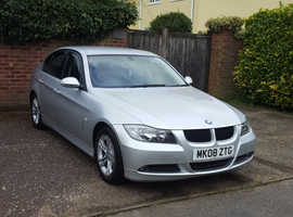BMW 3 Series, 2008 (08) Silver Saloon, Manual Petrol, 89,000 miles