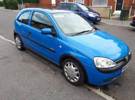 Vauxhall Corsa, 2002 (52) Blue Hatchback, Manual Petrol, 74,552 miles