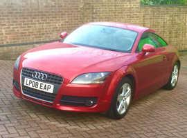 Audi TT, 2008 (08) Red Coupe, Manual Petrol, 34,500 miles