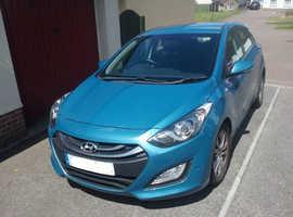 Hyundai i30, 2013 (13) Blue Hatchback, Manual Diesel, 70,000 miles