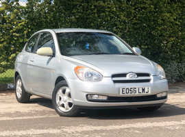 2006 (56) HYUNDAI ACCENT 1.4 AUTO Atlantic Limited Edition 3 Dr Hatchback in SILVER, LONG MOT, ONLY 40k MILES