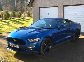 Ford Mustang, 2018 (18) Blue Coupe, Manual Petrol, 22,900 miles