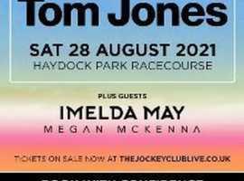 Tom Jones Tickets x 4 Haydock 28/08/21