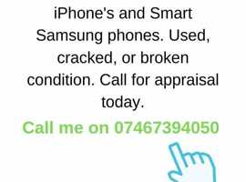 Cash for Apple iPhones and Samsung smart phones (LDN)
