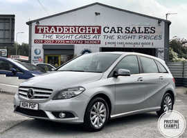 2014/14 Mercedes B180 1.6 Blue-Efficiency SE Nav finished in Moonlight Silver Metallic. , 62487 miles