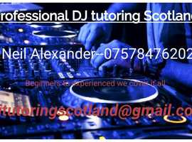 Professional DJ tutoring Scotland