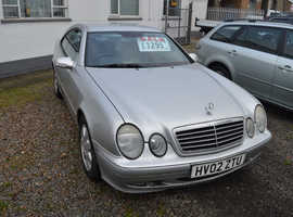 Mercedes CLK 200 KOMP.AVANTGARDE, 2002 (02) silver coupe, Manual Petrol, 200000 miles