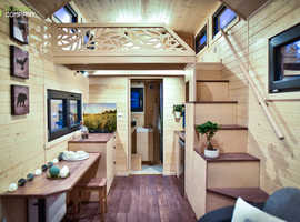 Tiny House Off-grid, Mobile home, House on wheels