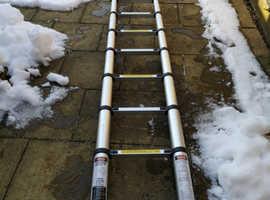 Ladder - 5m Telescopic Aluminium Folding A-Frame Ladder