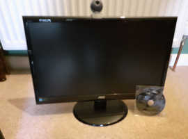 "PERFECT CONDITION 21"" AOC computer screen with built in speakers & Webcam"