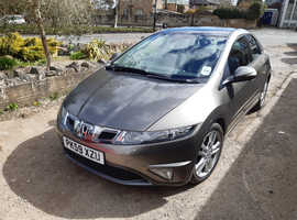 Honda Civic, 2009 (59) Grey Hatchback, Manual Diesel, 112,000 miles