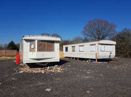 Static mobile home to rent