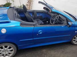 Peugeot 206, 2002 (02) Blue Coupe, Manual Petrol, 109,000 miles