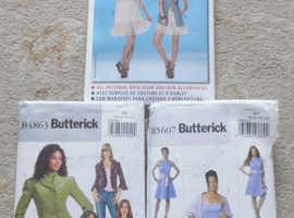 Sewing pattern mix Butterick B5607 6-12 & B4863 8-10 Burda 7683 6-18
