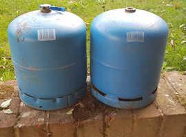 Butane camping gaz bottles