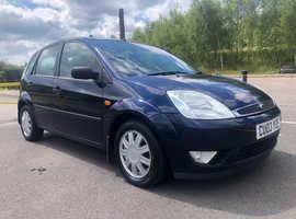 2003 Ford Fiesta Ghia 1.4 Petrol, 11 months MOT, service history, 52k miles, 2 keys