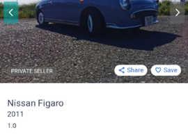 Nissan Figaro, 2011 (61) grey convertible, Manual Petrol, 128783 miles