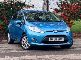 Ford Fiesta 1.4 ZETEC, 2008 (58) Blue 5 DOOR Hatchback, Manual Petrol, 115,826 miles, NEW 12 MONTH MOT