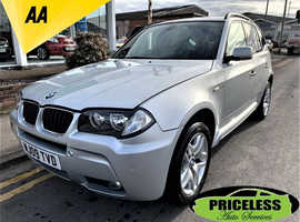 BMW X3, 2009 (09) Silver Estate, Manual Diesel, 122,803 miles