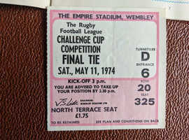 TICKET RUGBY LEAGUE CHALLENGE CUP FINAL FEATHERSTONE WARRINGTON GOOD CONDITION