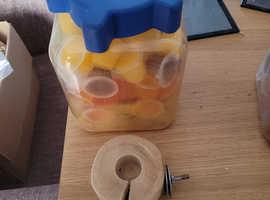 Parrot Jelly Pots + Holder