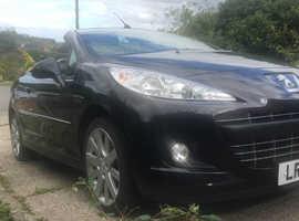 Peugeot 207, 2014 (14) Black Convertible, Automatic Petrol, 14,000 miles