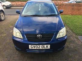Toyota Corolla, 2002 (02) Blue Hatchback, Automatic Petrol, 66,195 miles