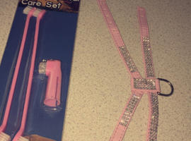 Dog Toothbrush And Harness Brandnew