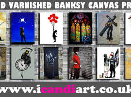 Hand made hand varnished 100% cotton framed canvas prints