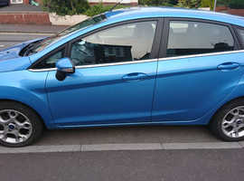 Ford Fiesta, 2012 (12) Blue Hatchback, Manual Petrol,  5 DOOR, 1 YEAR MOT,Serviced annually
