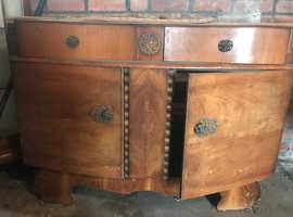 2 Seater sofa / Walnut sideboard