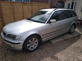 BMW 3 Series, 2004 (04) Silver Estate, Manual Diesel, 154,370 miles