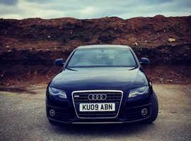 Audi A4 S Line, 2009 (09) Black Edition Saloon, Manual Diesel, 135,396 miles