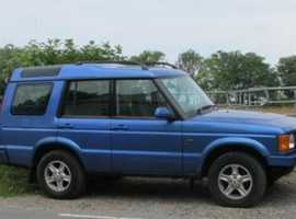 Land Rover Discovery, 2002 (02) Blue Estate, Manual Diesel, 112,500 miles