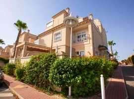 Miraflores, Playa Flamenca, Costa Blanca, Lovely Spacious Furnished  3 Bed Quad House in Very Nice Gated Community