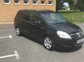 Vauxhall Zafira, 2008 (08) Black MPV, Manual Petrol, 117,000 miles