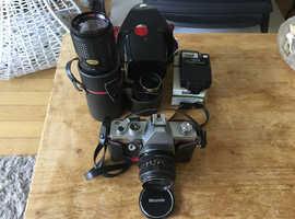 Camera plus lens and flash
