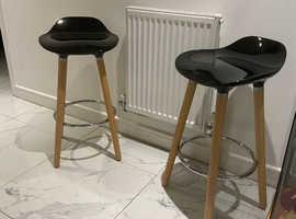 Ergonomic designer bar stools (pair) - brand new