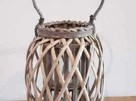 Wicker Candle Lantern