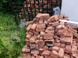 Free red bricks aprox 500!