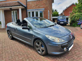 Peugeot 307, 2007 (07) Grey Coupe, Manual Petrol, 66,000 miles